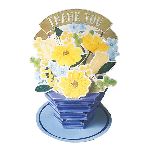 Greeting Life Flower pot Card TK-26