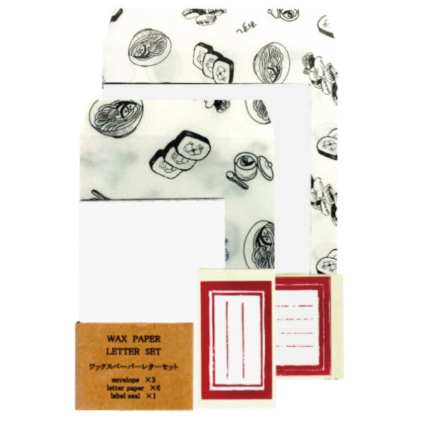 Jolie poche Wax Paper Letter Set M size TWO-07WH
