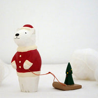 T-lab polepole animal Christmas Santa Claus Bear Tree