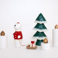 T-lab Holiday Wooden candle / L