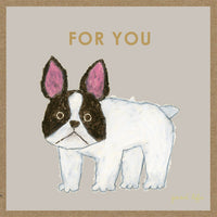 Greeting Life Craft Card Yusuke Yonezu French Bulldog YZ-91