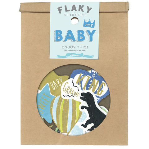 Greeting Life Flaky Stickers Baby Boy ATCK-76