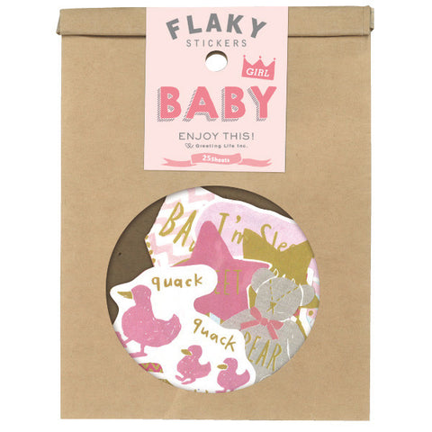 Greeting Life Flaky Stickers Baby Girl ATCK-77
