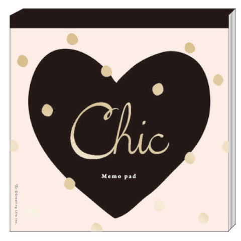 Greeting Life Chic Square Memo Heart