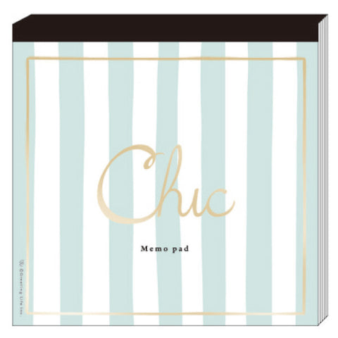 Greeting Life Chic Square Memo Stripe