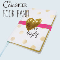 Greeting Life Chic Spice Book Band Heart ATZ-98