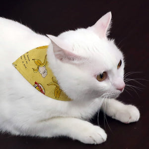 COCOLUCK  Cat Bandana CO-6197-BANANACAT