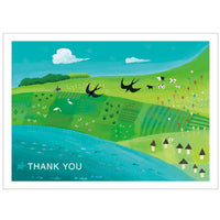 Tegami Thank you Greeting Card
