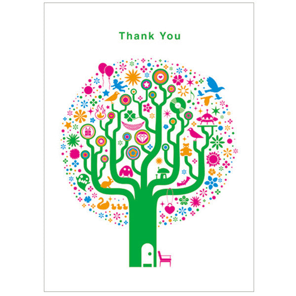 japanwave Tegami Thank you Greeting Card