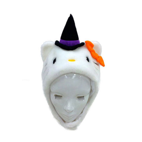 SAZAC Hello Kitty Halloween White Kigurumi Cap