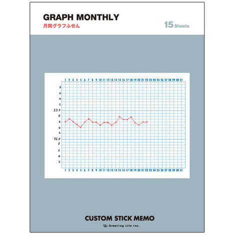 Greeting Life Custom Stick Memo GRAPF MONTHLY CDPG-8