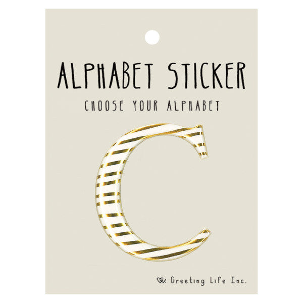 Greeting Life Alphabet Sticker C CK-100