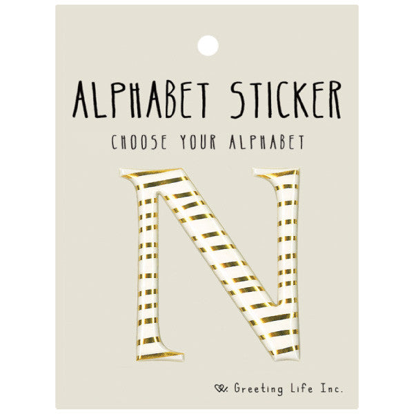 Greeting Life Alphabet Sticker N CK-102