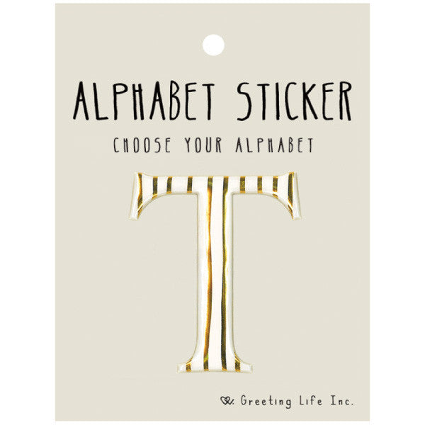 Greeting Life Alphabet Sticker T CK-103
