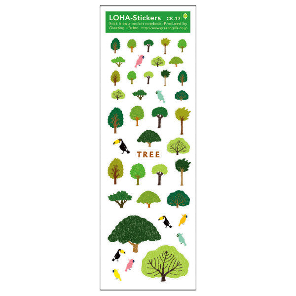 Greeting Life LOHA Sticker TREE CK-17