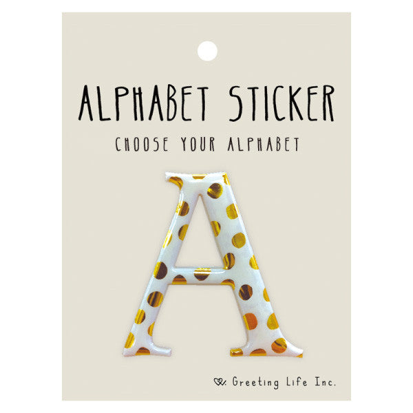 Greeting Life Alphabet Sticker A CK-92