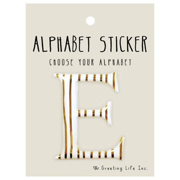 Greeting Life Alphabet Sticker E CK-93