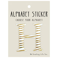 Greeting Life Alphabet Sticker H CK-94