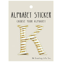 Greeting Life Alphabet Sticker K CK-95