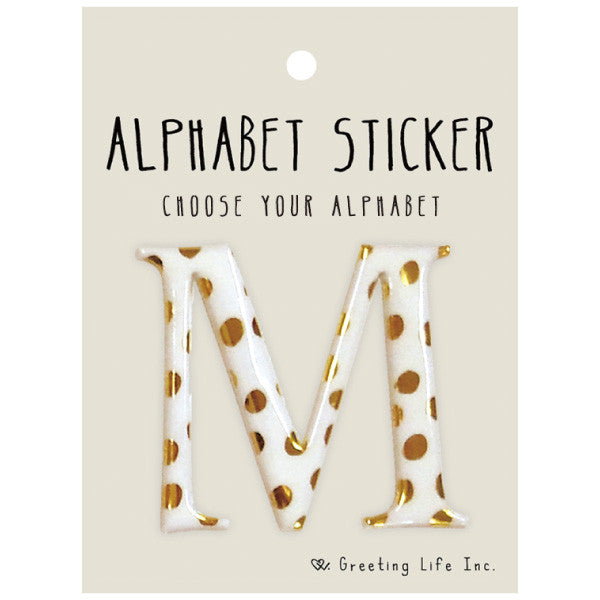Greeting Life Alphabet Sticker M CK-96