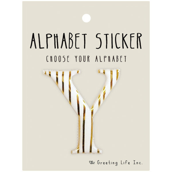 Greeting Life Alphabet Sticker Y CK-99