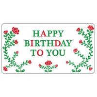 Greeting Life Flowers Birthday Card ER-12