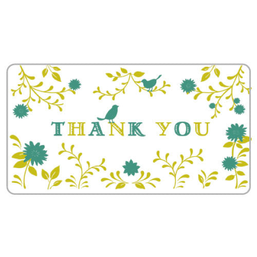 Greeting Life Flowers Thank you Card ER-13
