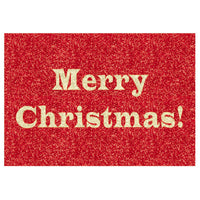 Greeting Life Glitter Type Christmas Card ER-3