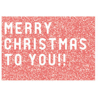 Greeting Life Glitter Type Christmas Card ER-5
