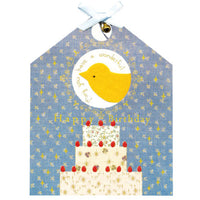 Greeting Life Cage a bonheur Birthday Card Yellow ET-9