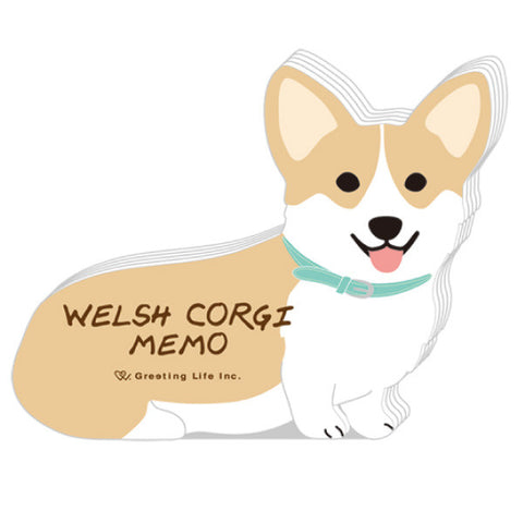 Greeting Life Animal Die Cut Memo WELSH CORGI ETN-109