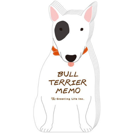 Greeting Life Animal Die Cut Memo Bullterrier ETN-111