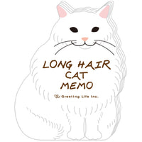 Greeting Life Animal Die Cut Memo Long Hair Cat ETN-112