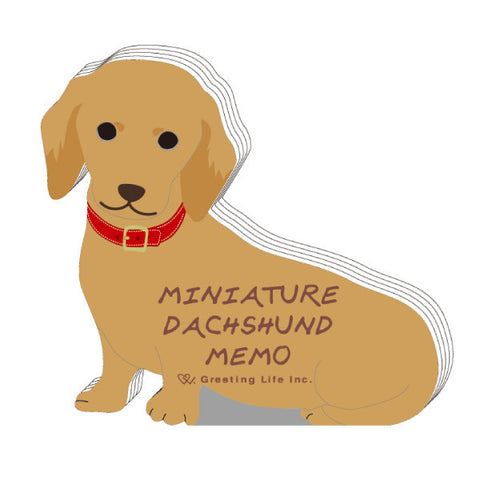 Greeting Life Animal Die Cut Memo MINIATURE DACHSHUND ETN-115