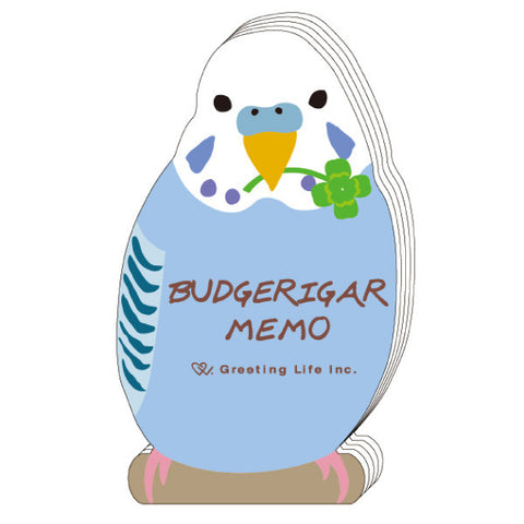 Greeting Life Animal Die Cut Memo BUDGERIGAR ETN-117