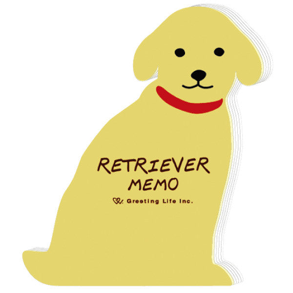 Greeting Life Animal Die Cut Memo Retriever ETN-61