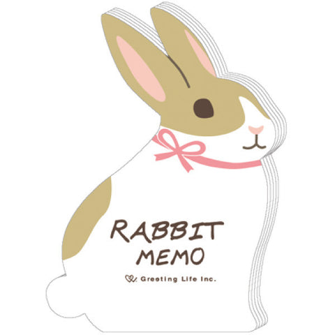 Greeting Life Animal Die Cut Memo Rabbit ETN-67
