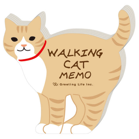 Greeting Life Animal Die Cut Memo Walking Cat ETN-75