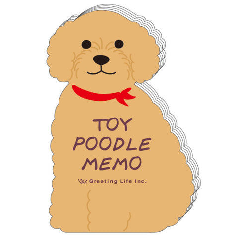 Greeting Life Animal Die Cut Memo Toy Poodle ETN-98