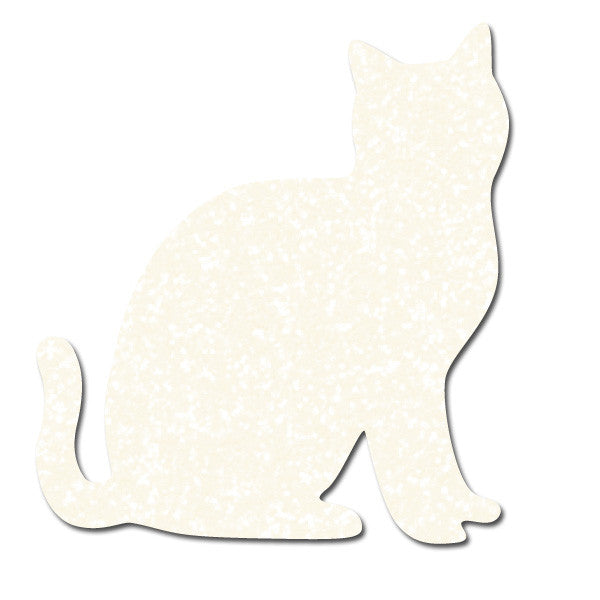 Greeting Life Glitter Sticker Cat white GLCK-18