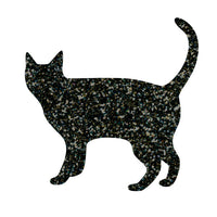 Greeting Life Glitter Sticker Cat black GLCK-1