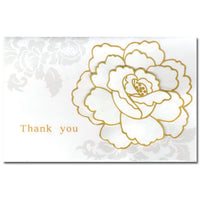Greeting Life White Corsage Thank you Card Grace HA-109