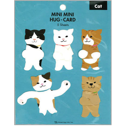 Greeting Life Mini Mini Hug Card Cat HT-23