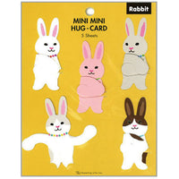 Greeting Life Mini Mini Hug Card Rabbit HT-24