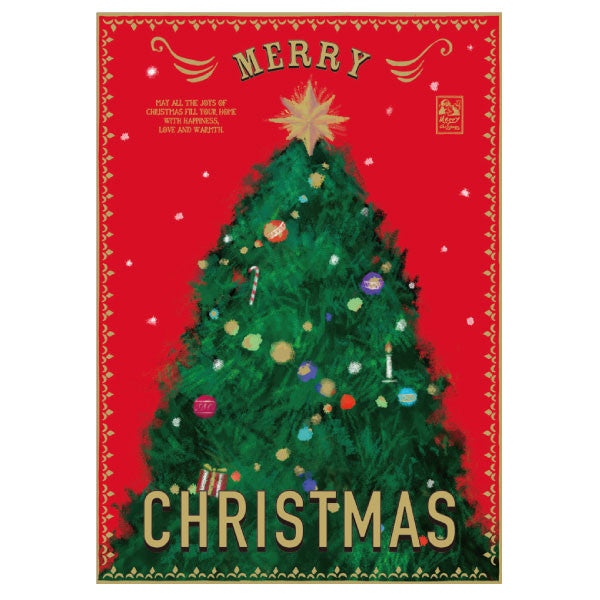 Greeting Life Christmas Poster Card HT-39