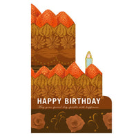 Greeting Life Whole Cake Card Chocolate Cake HT-4