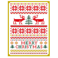 Greeting Life Pattern Press Christmas Card HT-50