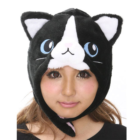 SAZAC Black Cat Kigurumi Cap