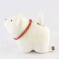 kyoohoo solar Powered Dog White K12-3209W