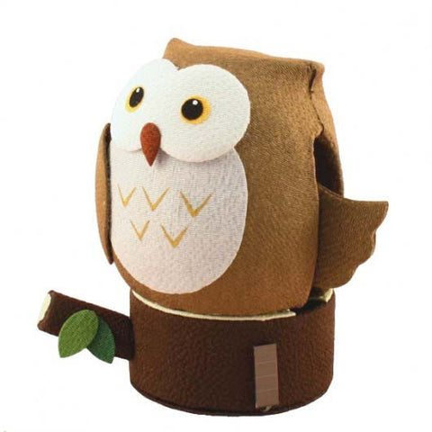 Solar Powered Owl Brown K12-3208BR